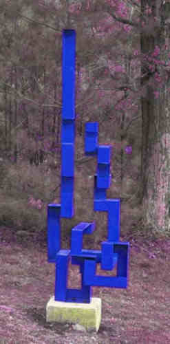 William Harris Blue Sculpture